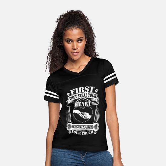 Heart T-Shirts - First they steal your heart - Women's Vintage Sport T-Shirt black/white
