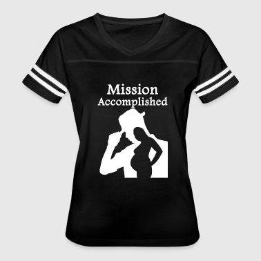 Mission Accomplished Pregnant - Mission Accomplished - Women's Vintage Sport T-Shirt