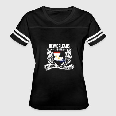 New Orleans Louisiana - Where my story begins - Women's Vintage Sport T-Shirt