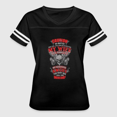 Wife - My wife will always be my angel - Women's Vintage Sport T-Shirt
