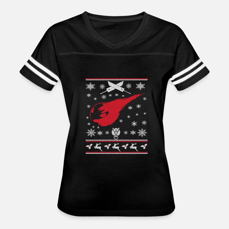 Final Fantasy Ugly Christmas Sweater Womens Vintage Sport T Shirt