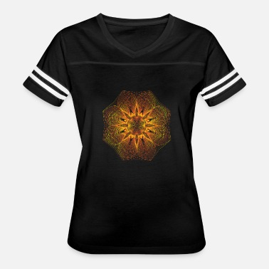 Gyroscope Gold Electric Flower Graphic - Women's Vintage Sport T-Shirt