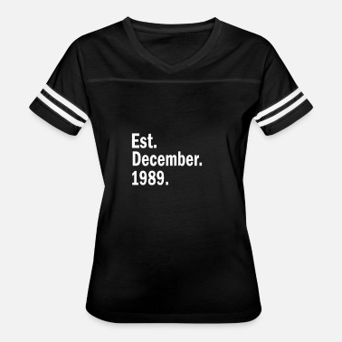 Est 1989 Est December 1989 - Women's Vintage Sport T-Shirt