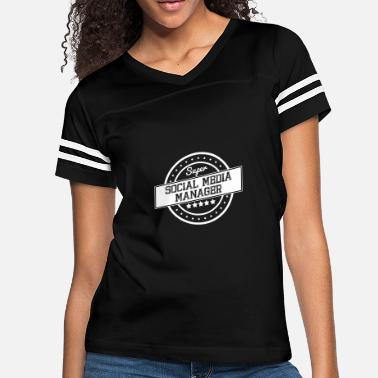 Social Media Manager Super Social Media Manager - Women's Vintage Sport T-Shirt