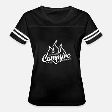 Bare Hands Camping campfire camper gift idea camp nature fun - Women's Vintage Sport T-Shirt