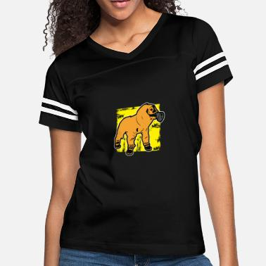 Gas Mask Dog Atom Nuclear Radiation Explosion Science Gift - Women's Vintage Sport T-Shirt