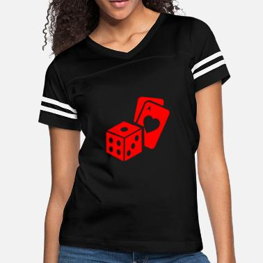 Card Game dice and card games - Women's Vintage Sport T-Shirt