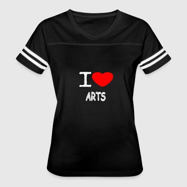 Grafity I LOVE ARTS - Women's Vintage Sport T-Shirt