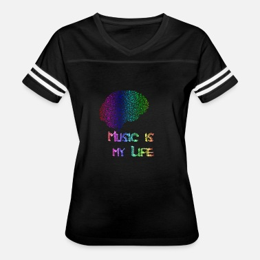 Music Is Life music is my life brain - Women's Vintage Sport T-Shirt