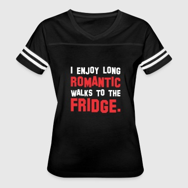 I Enjoy Long Romantic I Enjoy Long Romantic Walks The Fridge - Women's Vintage Sport T-Shirt