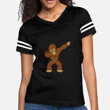 Big Dance Dabbing Bigfoot Yeti Big Foot Monster Dancing - Women's Vintage Sport T-Shirt