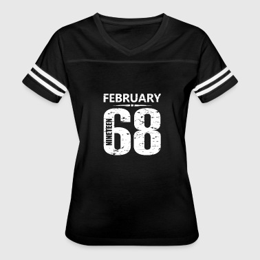 February 1968 Jersey Number - Women's Vintage Sport T-Shirt