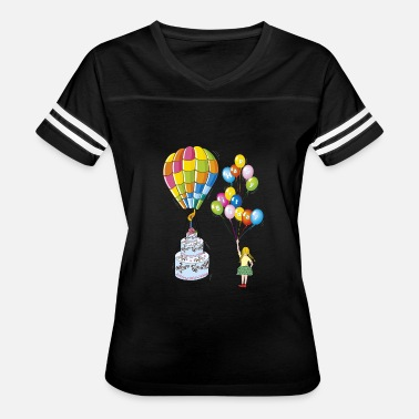Hot Cakes Birthday cake with hot air balloon - Women's Vintage Sport T-Shirt