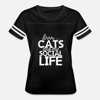 Socialism Cats Cats Are My Social Life - Women's Vintage Sport T-Shirt