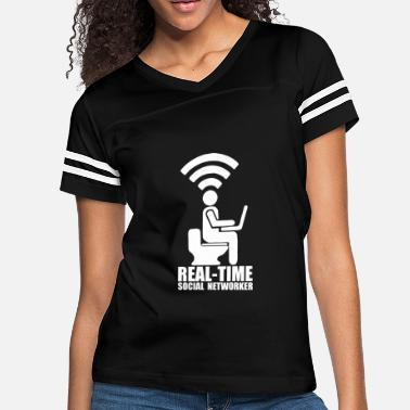 Social Network Real time social networker - Women's Vintage Sport T-Shirt