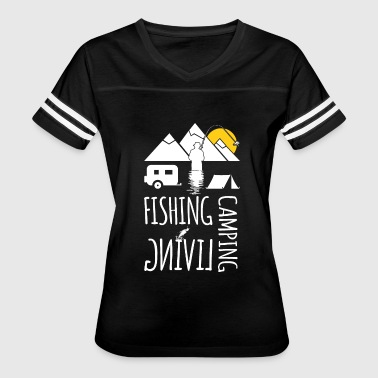 Fish Camp Camping fishing living - Women's Vintage Sport T-Shirt