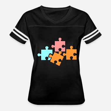 Playing Puzzles puzzle - Women's Vintage Sport T-Shirt