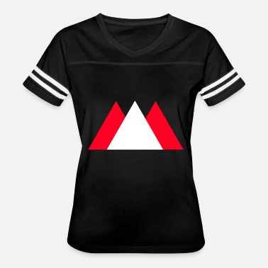 Red Triangle Mountains triangle (red, white) - Women's Vintage Sport T-Shirt