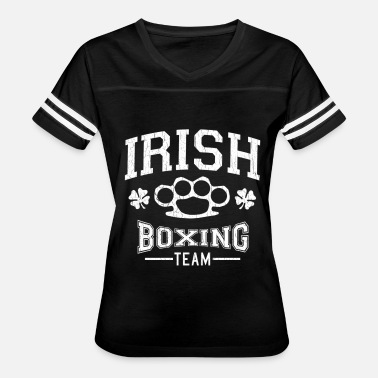 Boxe Sports Wear Irish Boxing Team. Knuckle Ring. Fight. - Women's Vintage Sport T-Shirt