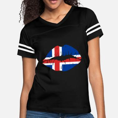 Force Sports Wear Iceland Flag Kiss World Champions soccer gift idea - Women's Vintage Sport T-Shirt