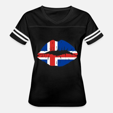 Forces Sports Wear Iceland Flag Kiss World Champions soccer gift idea - Women's Vintage Sport T-Shirt