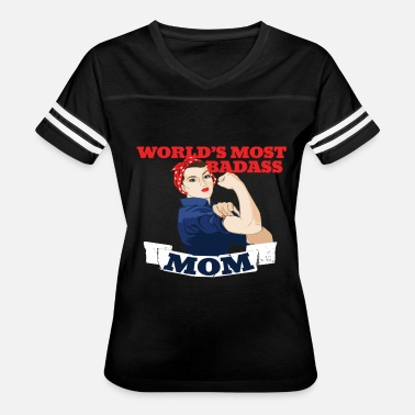 World Most Badass Mom World's Most Badass MOM - Women's Vintage Sport T-Shirt