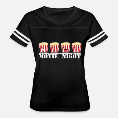 Popcorn Geek Movie night and popcorn funny - Women's Vintage Sport T-Shirt