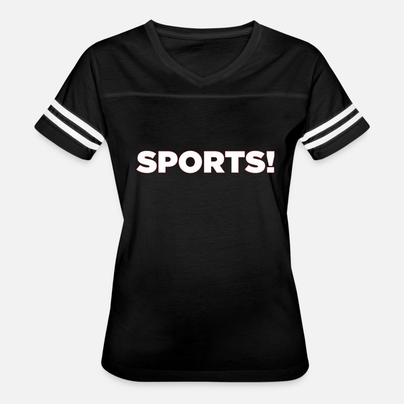 Sport T-Shirts - Sports - Women's Vintage Sport T-Shirt black/white