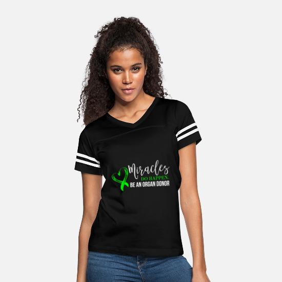 Donor T-Shirts - Love - miracles do happen be an organ donor for - Women's Vintage Sport T-Shirt black/white