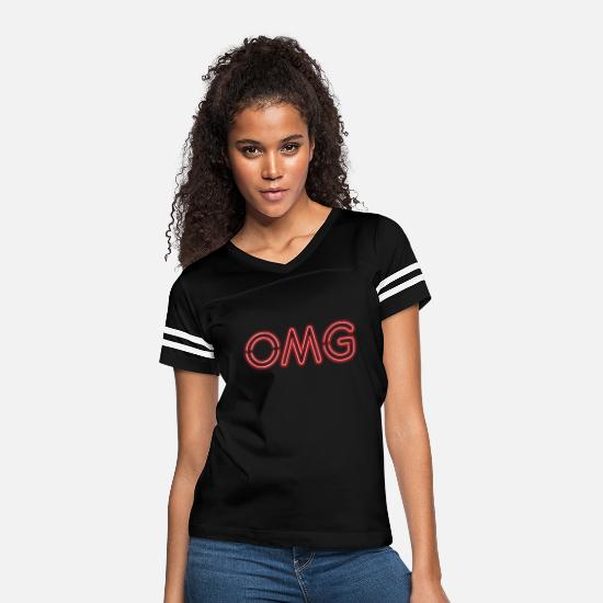 Omg T-Shirts - OMG Red - Women's Vintage Sport T-Shirt black/white