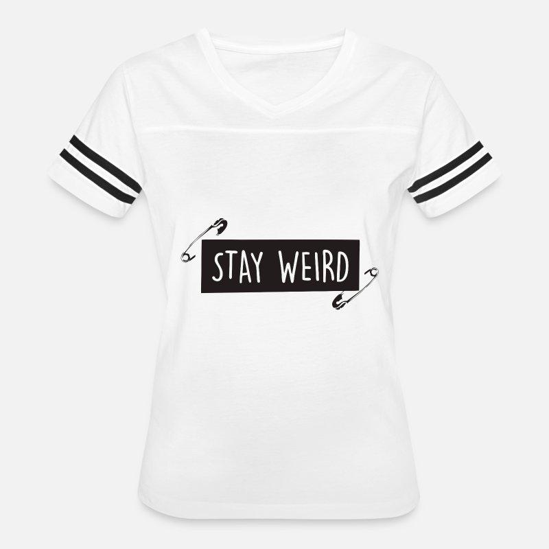 73415c417 Funny black Stay weird by Rinyuh | Spreadshirt