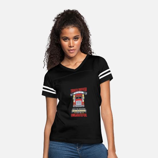 Gift Idea T-Shirts - TRUCK DRIVER: We the Willing - Women's Vintage Sport T-Shirt black/white