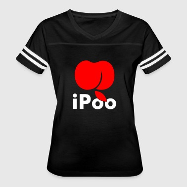 Apple Joke Ipoo Apple - Women's Vintage Sport T-Shirt