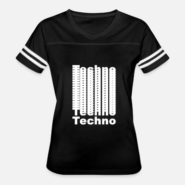 Just Techno Techno Techno (white) - Women's Vintage Sport T-Shirt