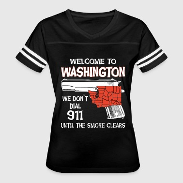welcome to washington police t shirts - Women's Vintage Sport T-Shirt