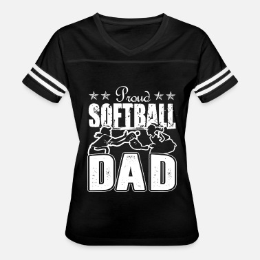 Softball Dad Clothes Softball Shirt - Women's Proud Softball Dad TShirt - Women's Vintage Sport T-Shirt