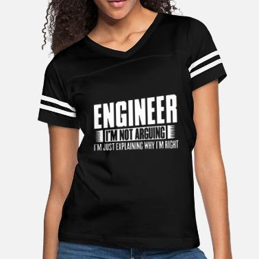 Arguing With The Engineer engineer i m not arguing i m just explaining why i - Women's Vintage Sport T-Shirt