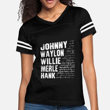 Outlaw Country Waylon Willie Merle Hank Johnny Southern Music - Women's Vintage Sport T-Shirt