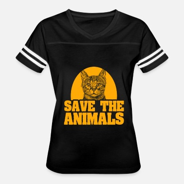 Save Cats Cat Save the Animals Vintage - Women's Vintage Sport T-Shirt