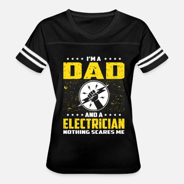 Fathers Day Dad Electrician Electrician Dad T Shirt For Fathers Day Gift - Women's Vintage Sport T-Shirt