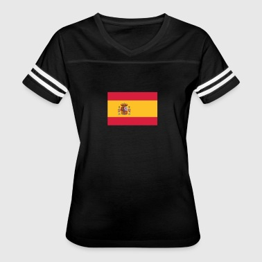 National Flag Of Spain - Women's Vintage Sport T-Shirt