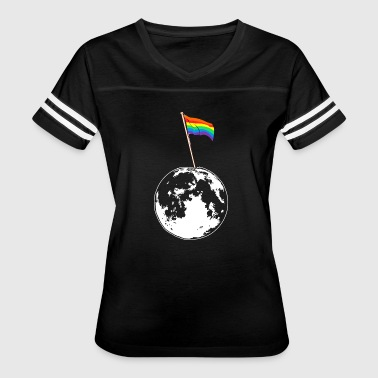 Gay Flag on Moon - Women's Vintage Sport T-Shirt