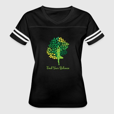 Buddha Says Relax Find your Balance Yoga Tree Nature - Women's Vintage Sport T-Shirt