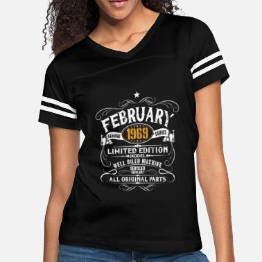Born In February 1969 50th Birthday Vintage Funny Gift - Women's Vintage Sport T-Shirt