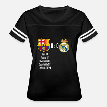 Real Madrid Fc FC Barcelona 5-0 Real Madrid - Women's Vintage Sport T-Shirt