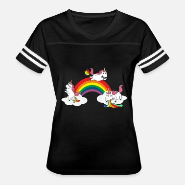 Unicorn Poop Farting Pooping Puking Unicorn - Women's Vintage Sport T-Shirt