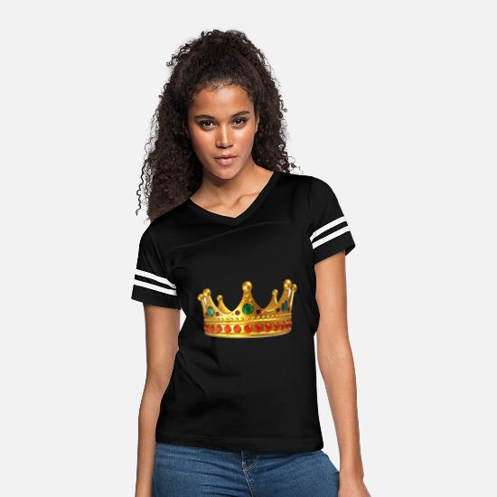Crown T-Shirts - crown - Women's Vintage Sport T-Shirt black/white
