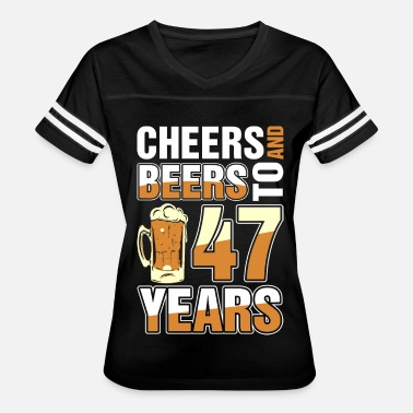 Celebrating 47 Years Cheers And Beers To 47 Years - Women's Vintage Sport T-Shirt