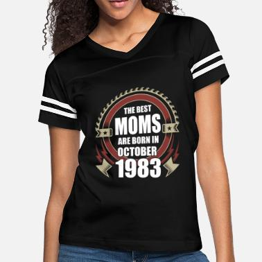 October 1983 The Best Moms are Born in October 1983 - Women's Vintage Sport T-Shirt