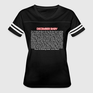 December Baby About December Born Baby - Women's Vintage Sport T-Shirt
